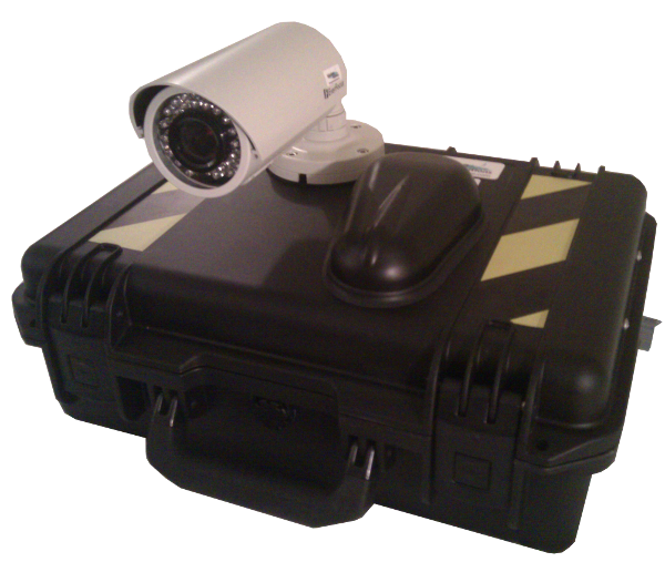 Outside - Rapidly Deployable Wireless Camera with DVR and Cellular Modem