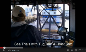 TugCam and HoistCam Sea Trials Video